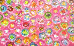 Pretty Stickers (Hazel) Tags: anime cute stickers plastic kawaii flakes plexiglass
