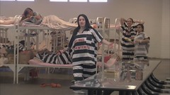 crowded jail (Inmate_Stripes) Tags: woman jail stripes female prisoners inmates prison