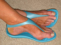 crocs blue (florida sandalman) Tags: feet foot thong sandal strappy