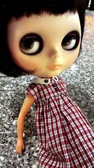 Spice-itude. (*phillaine*) Tags: red black doll spice blythe custom plaid takara rbl peoplel punkaholic blved