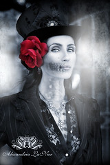 Lady of the Dead (Alexandria LaNier) Tags: holiday beautiful rose night vintage dayofthedead mexico skull costume eyes ghost gothic dream culture pop teen fantasy bones diadelosmuertos trend tradition steampunk skelleton alexandrialanier thedarksideofbeauty
