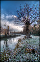 Frozen Country 1/2 (Gottry) Tags: winter italy panorama gelo landscape canal nikon frost italia country wide tokina campagna inverno lombardia hdr canale d90 1116 carpenzago