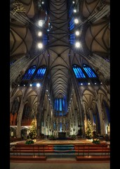 Cologne Cathedral (Frank Kehren) Tags: panorama church canon germany cathedral dom cologne unescoworldheritagesite altar 17 f8 hdr orgel pipeorgan koln schwalbennestorgel canoneos5dmarkii vertorama tse17mmf4l