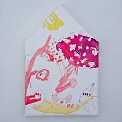 Tamagotake no ie (2012) oil on canvas, coloured pencil 345x230x30mm (mayakonakamura) Tags: house mushroom painting tokyo nuts seeds canvas oil microscope beaker nakamura mayako botanist soloshow semiabstract theneighbors amanitacaesarea echoann