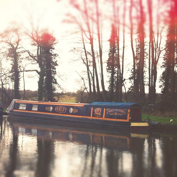 Barley the canal boat!!