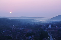 morning in Sibiel (next_in_line) Tags: morning sun mist fog landscape early haze village romania transylvania sibiel