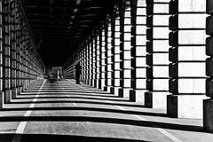 Embarquement Porte C / Boarding Gate C (fidgi) Tags: light shadow bw white black paris canon lumière nb ombre pontdebercy canoneos400d cmwdblackandwhite cmwdweeklywinner