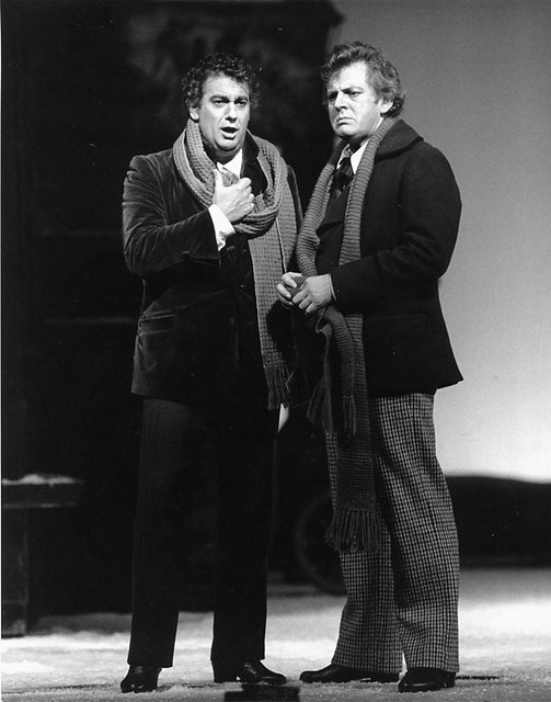 "Sir Thomas Allen as Marcello in La bohème. The Royal Opera. <a href=""http://www.roh.org.uk"" rel=""nofollow"">www.roh.org.uk</a> Photo: Clive Barda"