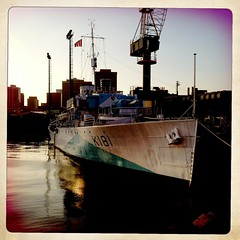 HMCS Sackville (K181) (Evan MacPhail Photography) Tags: canada flower photo ship photos wwii navy royal canadian class her corvette sackville app 4s apps dockyard iphone hmcs majestys k181 hipstamatic infinicam histagram
