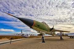 Republic F-105 at Edwards Air Force Base (Dave Toussaint (www.photographersnature.com)) Tags: california ca travel sky usa cloud nature photoshop plane canon landscape us photo interestingness interesting day skies fighter republic photographer angle cs2 display cloudy aircraft aviation military wide jet january picture explore adobe southerncalifornia thud usaf hdr 2012 adjust infocus vietnamwar edwardsairforcebase f105 thunderchief denoise 60d topazlabs centurycircle supersonicfighterbomber photographersnaturecom davetoussaint photoengine mygearandme mygearandmepremium 610146 oloneo flickrstruereflection1 flickrstruereflection2