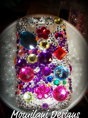 colorful case blkberry (momilani1007) Tags: glitter ipod blackberry makeup cellphone case nails custom rhinestones