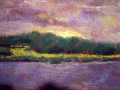 Overcast evening (Marj Morani) Tags: paintings shore marj eastern morani