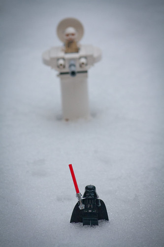 Darth Vader regretted not packing his Winter camo suit for Hoth