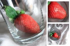 36-366 (Amalid) Tags: red white macro glass fruits closeup fruit canon project fire eos strawberry bokeh strawberries libya tripoli lighttent lightbox 2012 encarnado         canoneos450d 366project canoneosdigitalrebelxsi efs1855mmisf3556 365daytodayproject