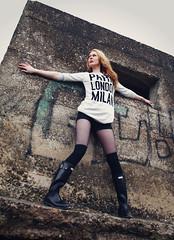 Paris -London-Milan (Szmytke) Tags: fashion topv111 scotland model topv555 topv333 legs boots topv1111 topv999 tights karen blonde heels topv777 tall wellies wellingtons hunters hollister morayshire roseisle
