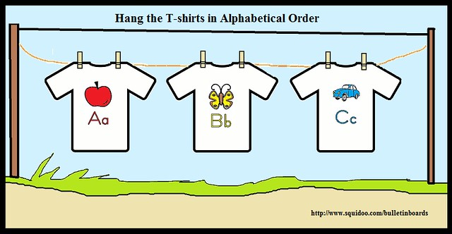 T-shirt Alphabet Bulletin Board