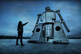 minnesota frozen lake robot