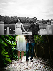 (tricky_dan) Tags: lake beautiful 35mm asian diptych couple colours bokeh gorgeous 14 naturallight sharp stunning canon5d wideopen 35l fuji400h vsco