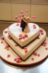 Pink Hearts (Betty´s Sugar Dreams) Tags: wedding cake germany hearts groom bride hamburg betty fimo hochzeit herz hochzeitstorte torte fondant herzen polymer brautpaar caketop hochzeitstorten sugarpaste bettinaschliephakeburchardt bettyssugardreams