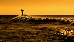 Yeah I'm high, high on life! (Marie.L.Manzor) Tags: ocean sunset sea seascape beach water silhouette backlight nikon surf waves candid nikkor deepsouth southcaroline marielmanzor nikon610