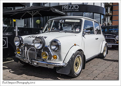 White Classic Mini (Paul Simpson Photography) Tags: car classiccar mini icon lincoln vehicle iconic classiccars carshow spotlights classicmini modifiedcar smallcar whitecar photosof imageof photoof spotlamps imagesof whitemini sonya77 paulsimpsonphotography