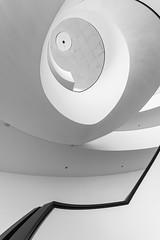 minimalism (Karl-Heinz Bitter) Tags: bw abstract black monochrome lines architecture curves treppe staircase architektur monochrom minimalism nrnberg abstrakt treppenhaus kurven minimalistisch minimalismus