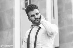 Business man | Model: Ensar Tiago Gngr (thendele) Tags: portrait man male guy monochrome businessman blackwhite model bart monochromatic business sw mann herr modell bnw anzug kerl schwarzweis brtig