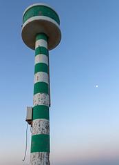 (wingspan91) Tags: moon lighthouse marina dawn
