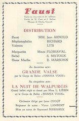 FAUST, STAMBRUGES, 1945 (Operabilia) Tags: opra soprano programme faust monnaie jeanarnold baryton gounod tnor thtreroyaldelamonnaie georgesvillier marielouisefloriaval claudepascalperna renlits londubressy solangematoux