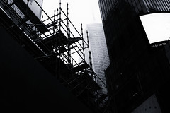 Ten Fifty-One Zero Six (PAJ880) Tags: new york nyc bw mist rain scaffold times sq