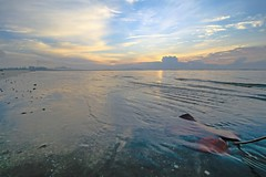 IMG_3529 ~ new chapter (achem74) Tags: trip morning travel sky beach sunrise canon eos coast shorelines seascapes wideangle places malaysia kuantan pahang canonlens beserah balok canoneos700d eos700d 10mm18mm