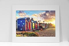 Fine Art Print - Aussie Beach Landscape (Ewan Arnolda Photography) Tags: sunset sun beach nature landscape photography colours buy aussie beachhuts