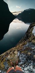 (CharlieReynolds) Tags: sunset panorama lake norway landscape wanderlust adventure explore fjord goldenhour mountainpass verticalpanorama danner sognogfjordane lovatnet dannerboots canon5dmkiii sigma24mmf14art