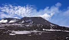 Snow, Volcanic ash, fumes, and the sky (somabiswas) Tags: sky italy snow mountains landscape mount sicily etna catania volcanicash