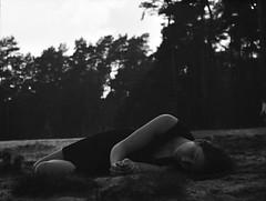 Aileen (Juliet Alpha November) Tags: portrait bw 120 film 645 jan dune delta portrt silence sw medium format 100 expired ilford dne stille rollfilm mittelformat holmer meifert sandberge