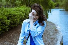Wind Blown (Chris B Richmond) Tags: park blue black girl beautiful smile shirt laughing canon hair outside rachel tn nashville wind outdoor tennessee blow pale laugh dslr