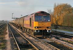 60024 at Barnetby (robmcrorie) Tags: train rail railway loco trains class lincolnshire oil locomotive enthusiast lindsey tug railways railfan 60 kingsbury dbs ews barnetby 60024 6e46