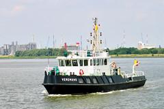 VEREMANS hydrografisch vaartuig op de Schelde in Antwerpen. (Ervanofoto)