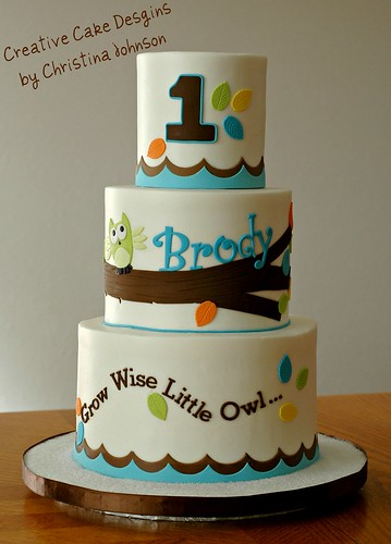 Pleasing Owl 1St Birthday Cake A Photo On Flickriver Funny Birthday Cards Online Hendilapandamsfinfo