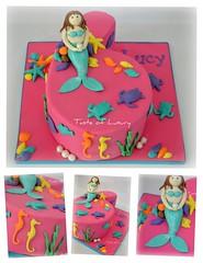 Pink Mermaid (Taste of Luxury) Tags: ocean birthday pink girl cake underwater mermaid six