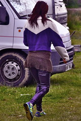 Purple spandex (petelovespurple) Tags: costumes girls people music smiling festival portraits happy nikon dancing mud boots hats dressup tights jeans wellies enjoyment goths wellingtons hunters knockengorroch d90 petee knocky