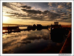 Harbour sunset (ccgd) Tags: winter sunset sea orange scotland highlands harbour cromarty rigs