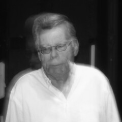 Stephen King at Majestic Theater (Mr Holga) Tags: film dallas holga kodak stephenking majestictheater sixthfloormuseum obdurate mrholga
