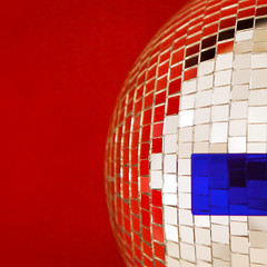 Iron Disco-grapher (solecism) Tags: blue red white abstract glass glitter ball disco squares minimalist utata:project=ip140