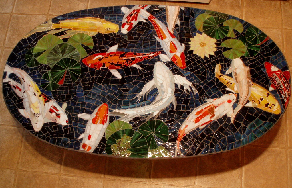 The world 39 s best photos of koi and stainedglass flickr for Koi fish pool table