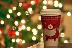 starbucks (imashleyhello) Tags: christmas red green coffee season lights holidays december coffeecup christmastree starbucks snowmen