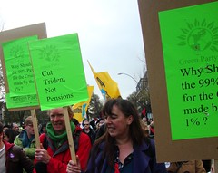 ,Green councillors - marching with the unions...... (brightondj) Tags: uk march brighton protest demonstration strike unions n30 greenparty tradeunions november30thstrike