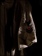 A Woman's Place (photo_secessionist) Tags: light colour vintage dark morninglight clothing women uniform waves shadows navy naturallight 1940s ww2 nurse aroundmyhouse konicaminoltadimagez6 digitography