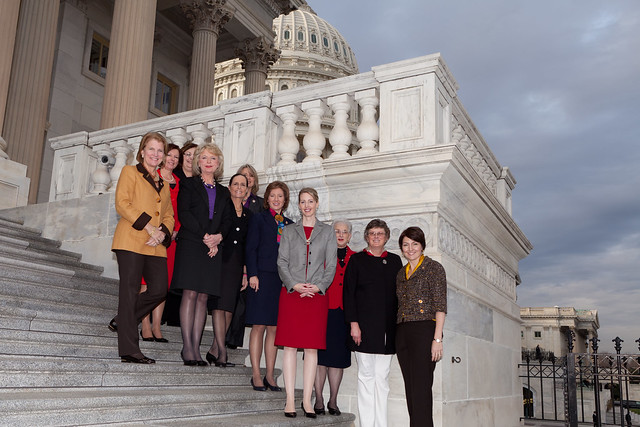 GOP Women Members & CEOs on Capitol Steps