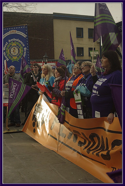 Preston #strike #n30 : Rally On Flag Market : UNISON & PCS Union : #pcs :